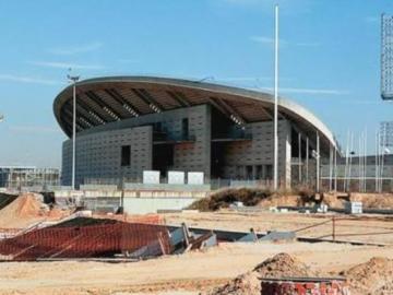 Obras en el estadio de la Peineta