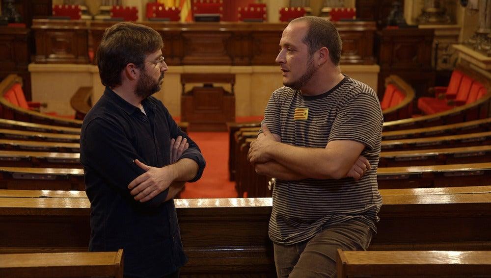 Jordi Évole y David Fernández