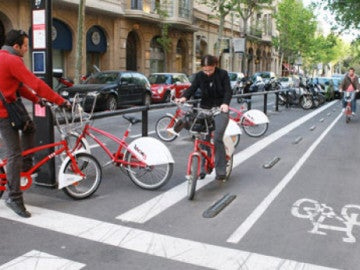 Servicio de bicicletas en Barcelona