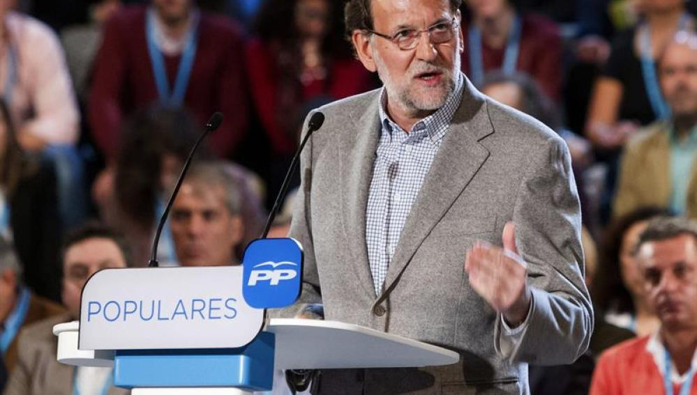 El presidente del Gobierno, Mariano Rajoy, durante su intervención en la clausura de las Jornadas de 'buen Gobierno' del PP