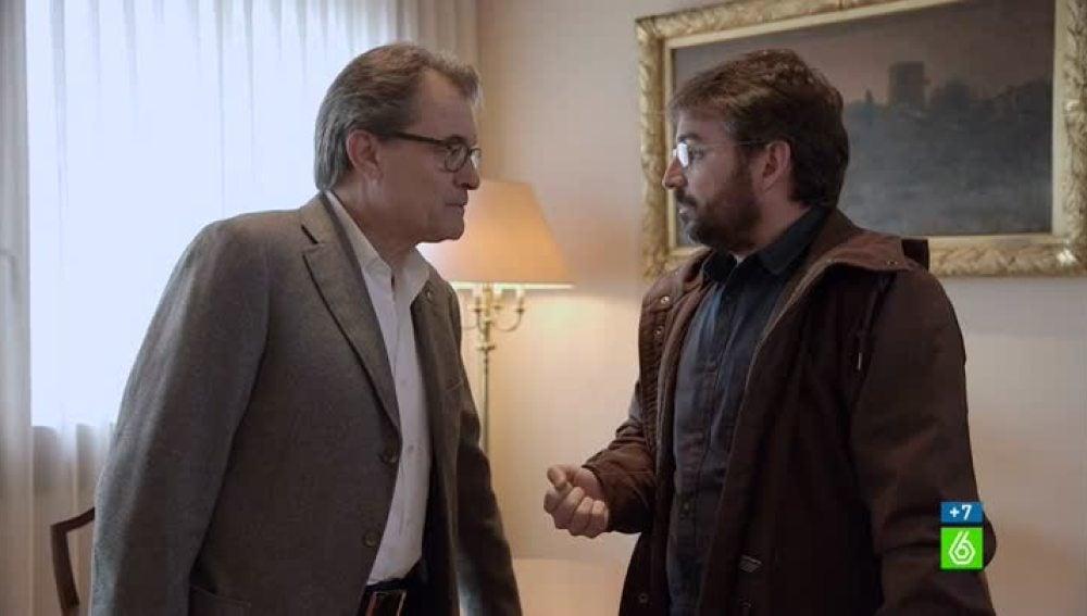 Artur Mas y Jordi Évole en 'Salvados'