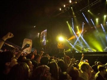 Imagen de un concierto de Muse
