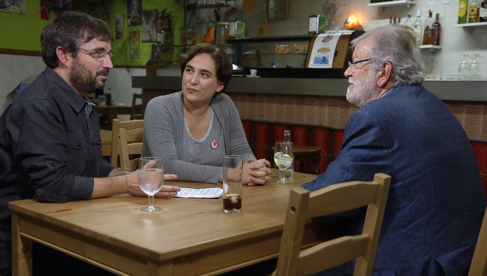 Ada Colau y Juan Carlos Rodríguez Ibarra, en 'Salvados'