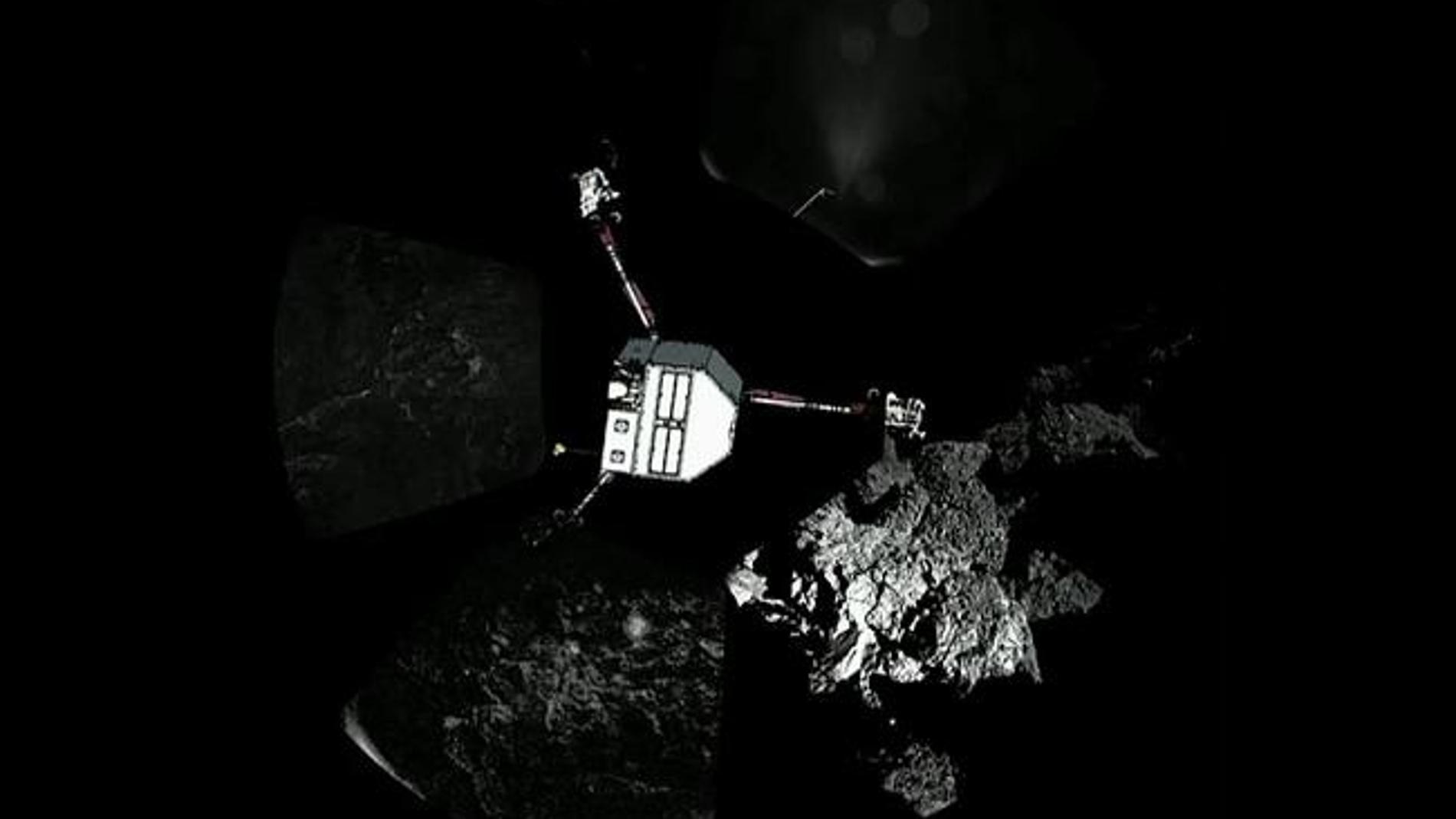 La sonda Philae sobre el cometa