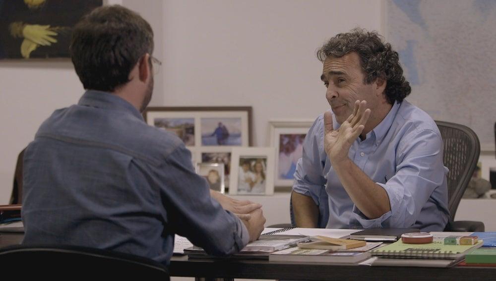 Sergio Fajardo y Jordi Évole en 'Salvados'