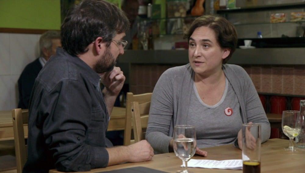 Ada Colau, con Jordi Évole en Salvados