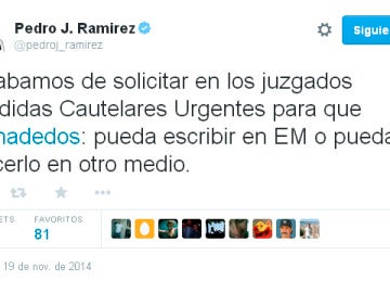 Twitter de Pedro J. Ramírez
