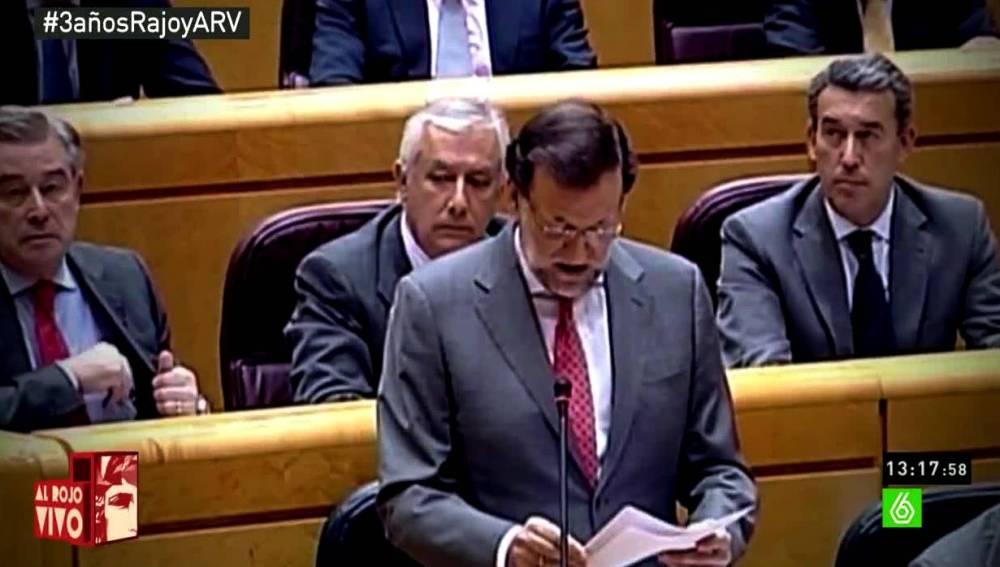 Rajoy pide perdón en el Senado por la corrupción