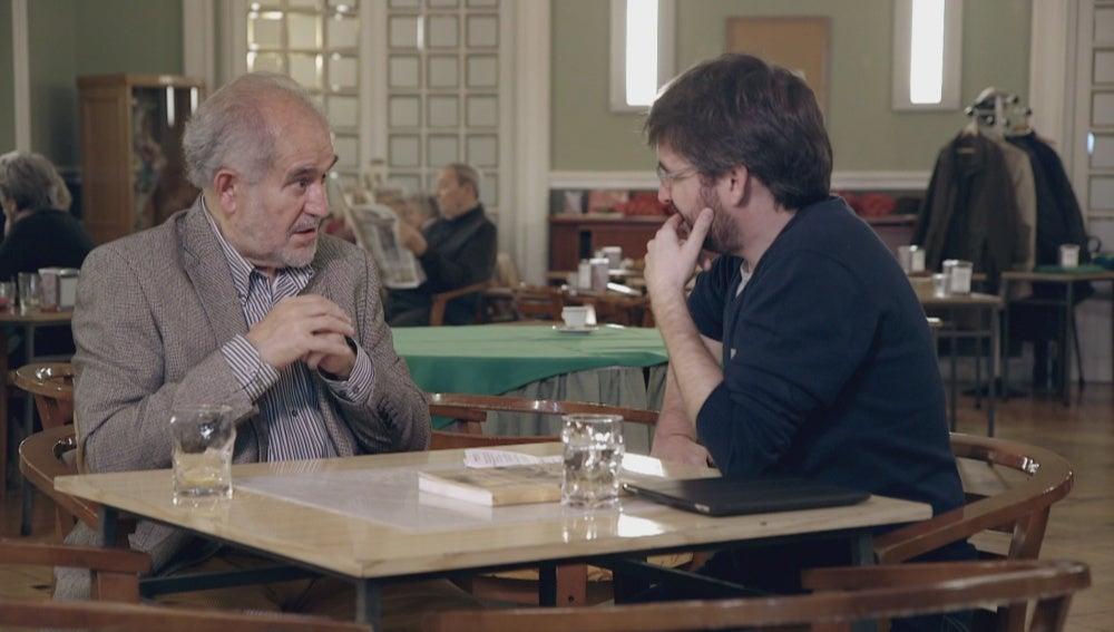 Demetrio Madrid y Jordi Évole en 'Salvados'