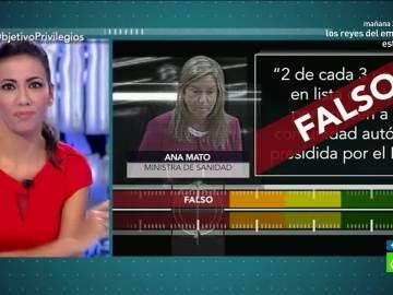 Test de verificación de Ana Mato en 'El Objetivo'
