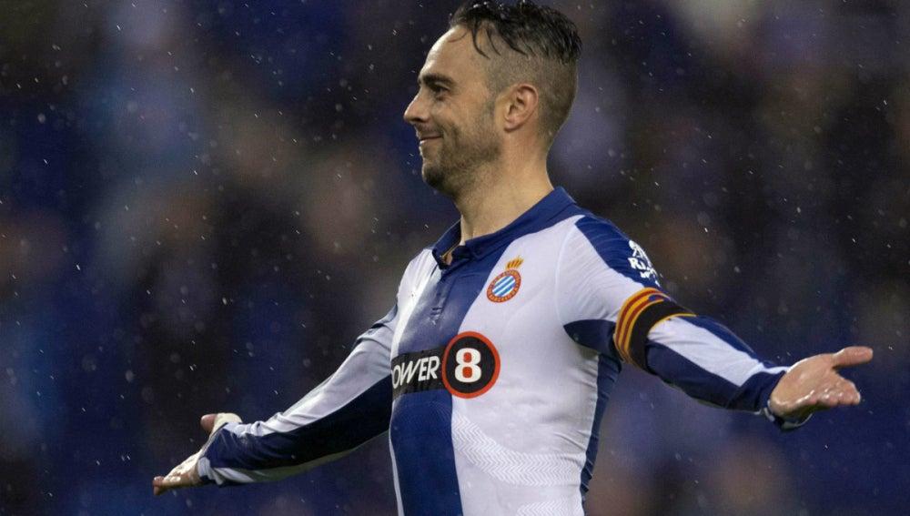 Sergio García celebra un gol