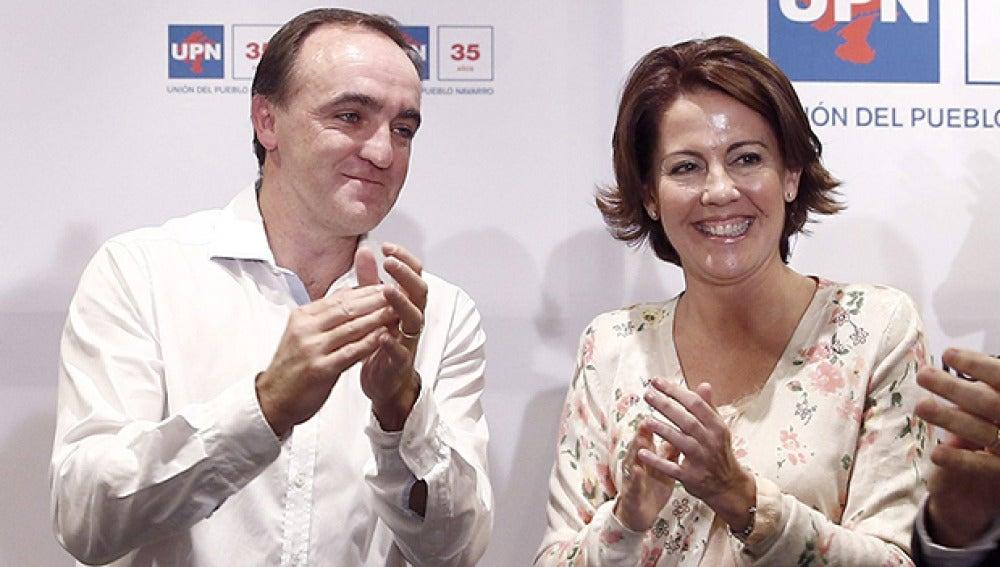 Yolanda Barcina se despide de la presidencia navarra y posa su confianza en Esparza