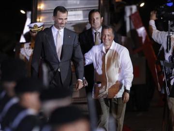 El rey Felipe VI a su llegada al Aeropuerto del estado de Veracruz