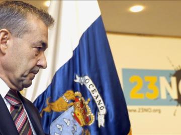 Paulino Rivero, presidente del Gobierno de Canarias
