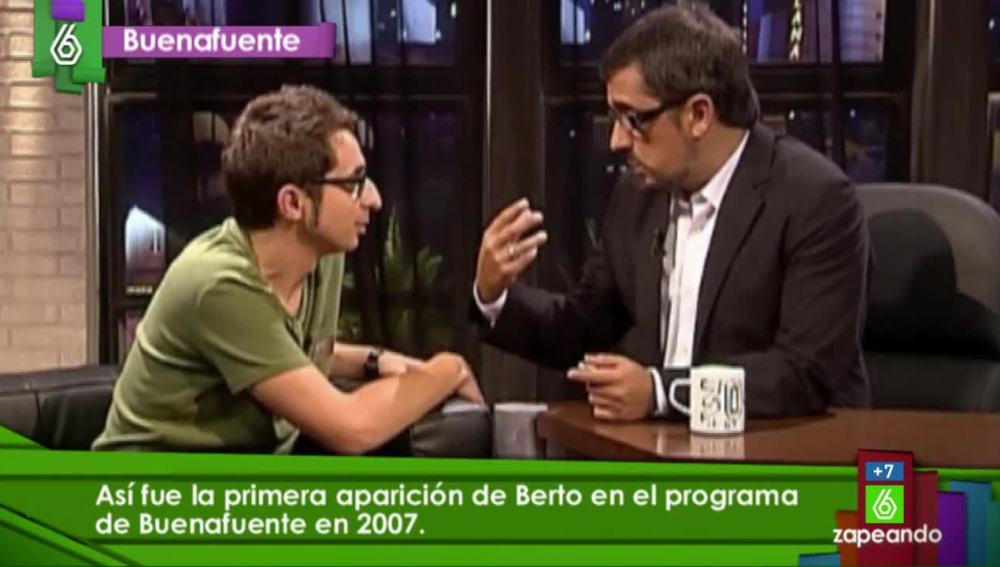 La primera aparición de Berto en televisión