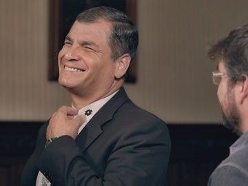 Rafael Correa y Jordi Évole en 'Salvados'