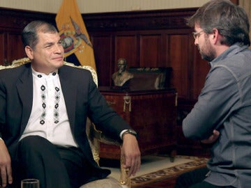 Rafael Correa, en 'Salvados'
