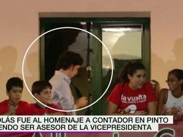 Nicolás en el homenaje a Contador