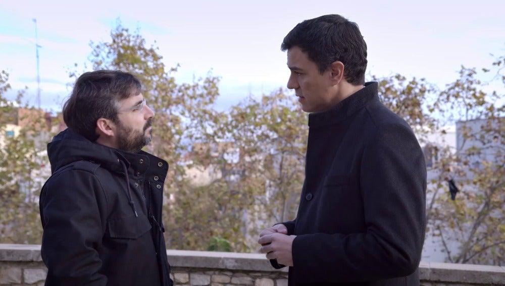 Jordi Évole y Pedro Sánchez