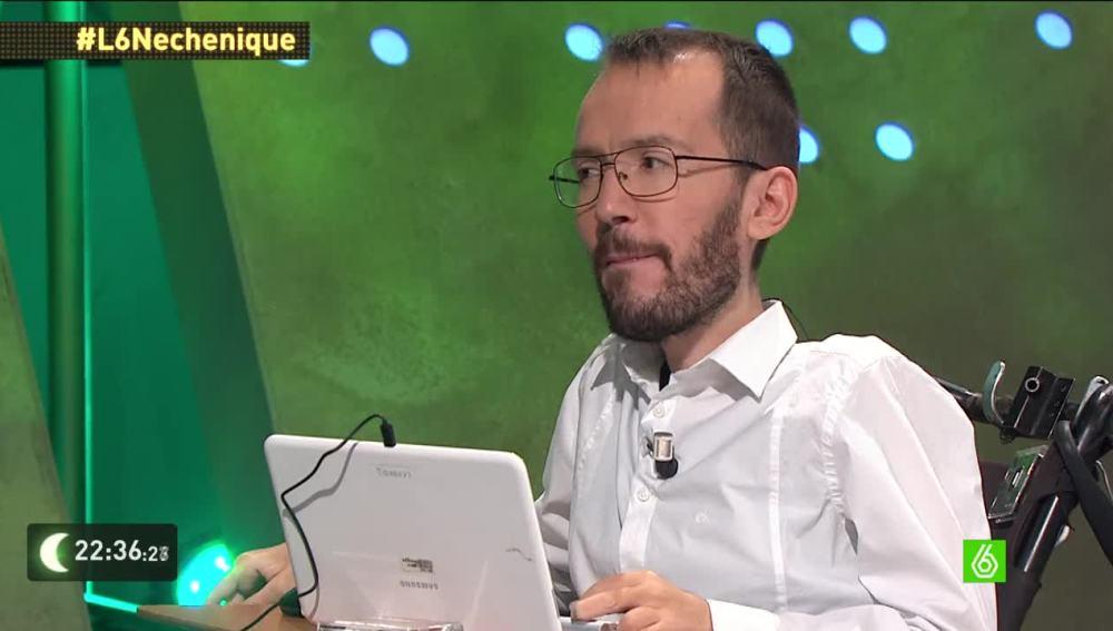 Pablo Echenique, en 'laSexta Noche'