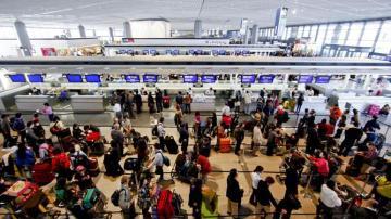 Colas en los aeropuertos