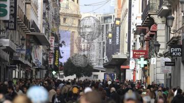 Aspecto de la calle Preciados, en Madrid, un día del pasado mes de diciembre