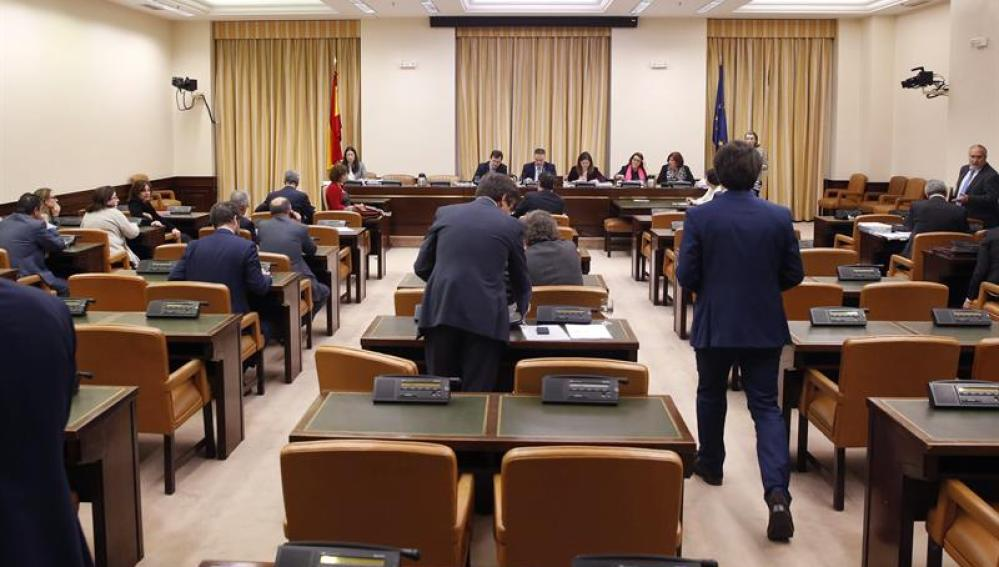 La Comisión de Justica al inicio del debate de la reforma del Código Penal