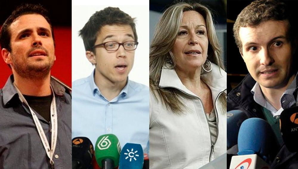 Garzón, Errejón, Jiménez y Casado visitan El Objetivo