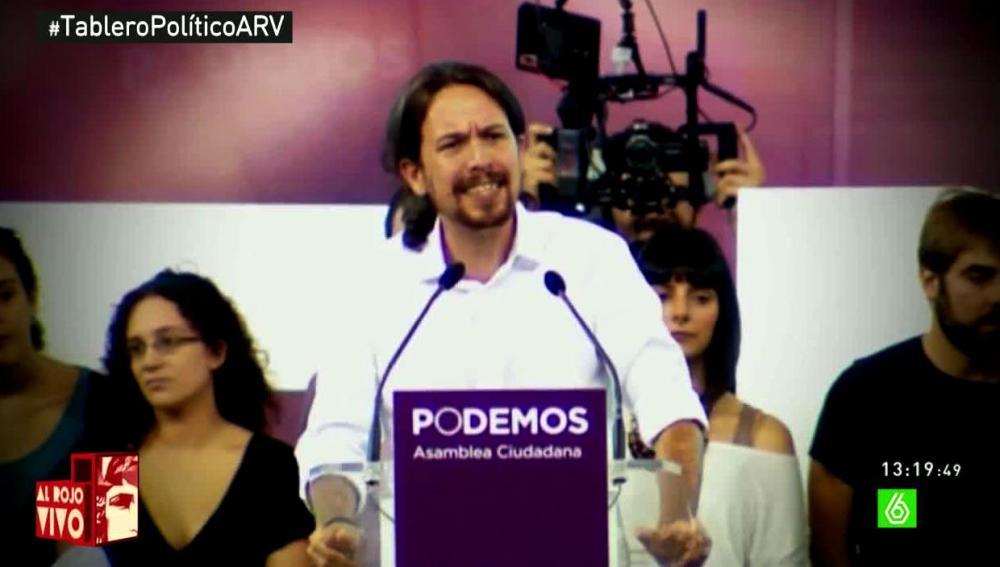 Pablo Iglesias durante un discurso