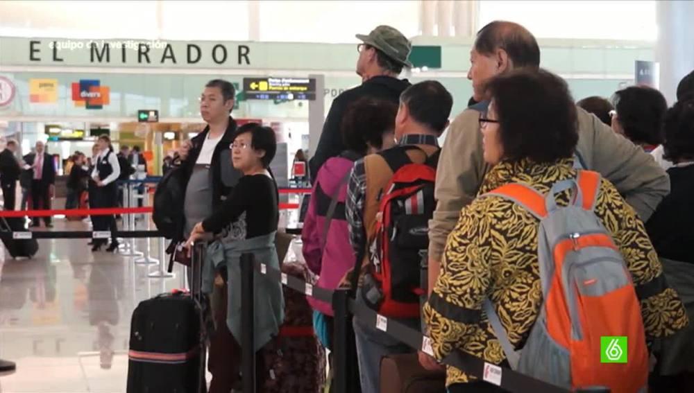 Turistas chinos en España