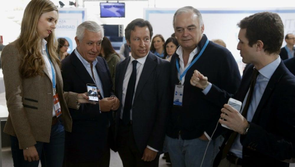 Esteban González Pons, Carlos Floriano, Javier Arenas y Pablo Casado