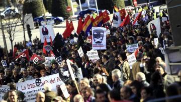 Unas mil personas claman en Madrid contra la represión de la ley Mordaza