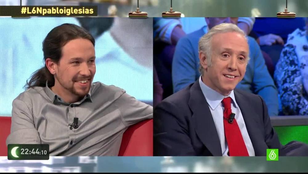 Pablo Iglesias y Eduardo Inda en 'laSexta Noche'