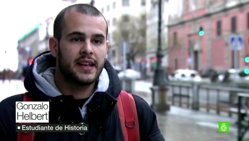 Gonzalo estudiante de Historia