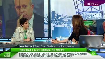 Ana García en Más Vale Tarde