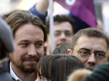 Los líderes de Podemos hacen piña en torno a Monedero tras las críticas de Montoro