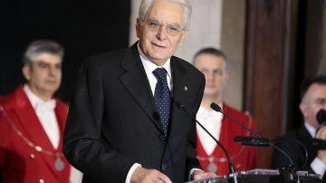El presidente de Italia, Sergio Mattarella