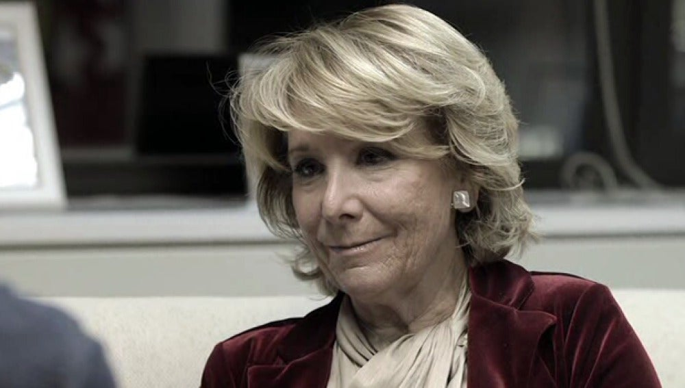 Esperanza Aguirre, en 'Salvados'