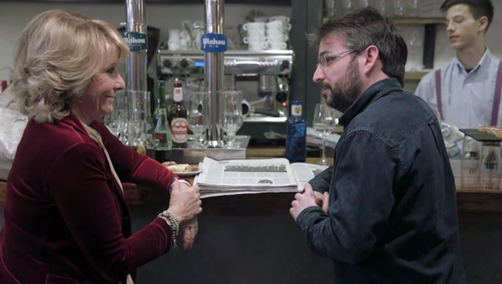 Jordi Évole entrevista a Esperanza Aguirre