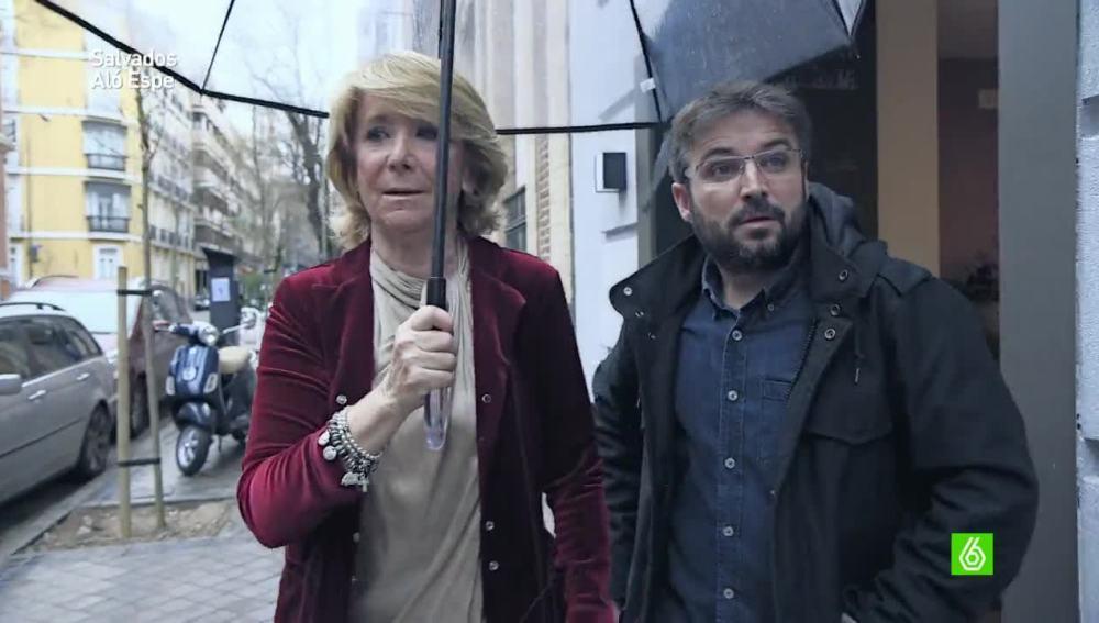 Esperanza Aguirre y Jordi Évole