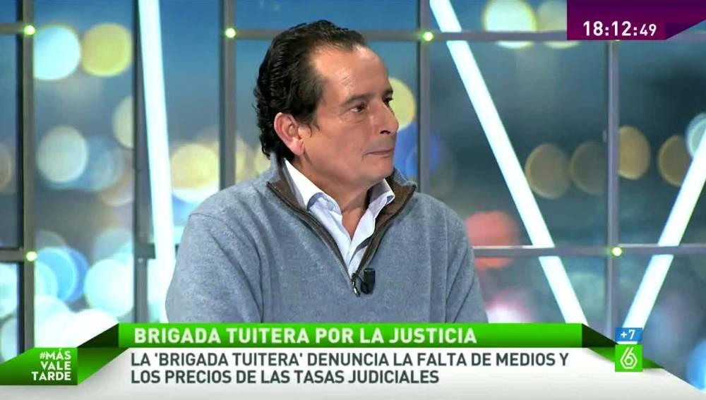 Luis María Gerez, miembro de la Brigada Tuitera