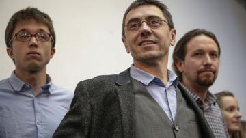 Errejón, Monedero y Pablo Iglesias