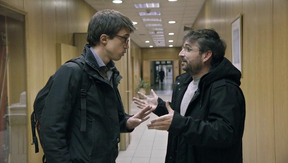 Íñigo Errejón y Jordi Évole en 'Salvados'