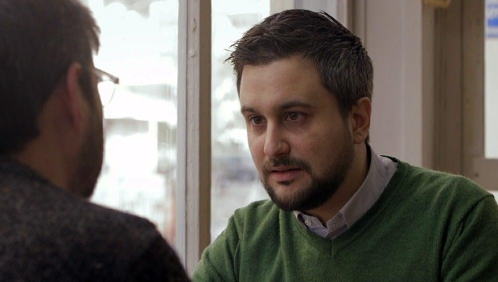 El periodista Andrés Mourenza, en 'Salvados'