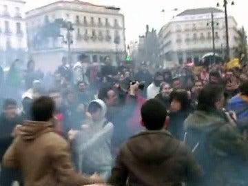 Enfrentamientos entre estudiantes en Sol