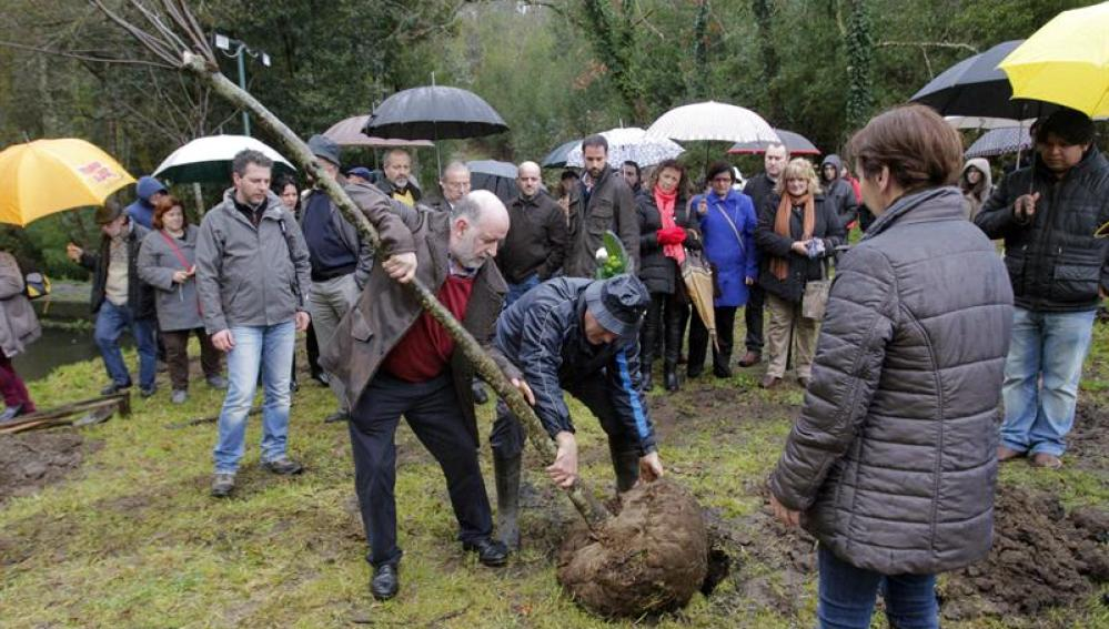 El 'Jardín del Recuerdo', creado en el primer aniversario de la tragedia ferroviaria de Angrois