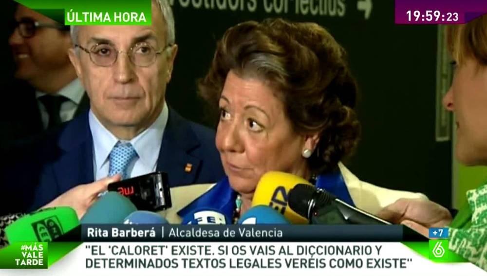 Rita Barberá habla del Caloret