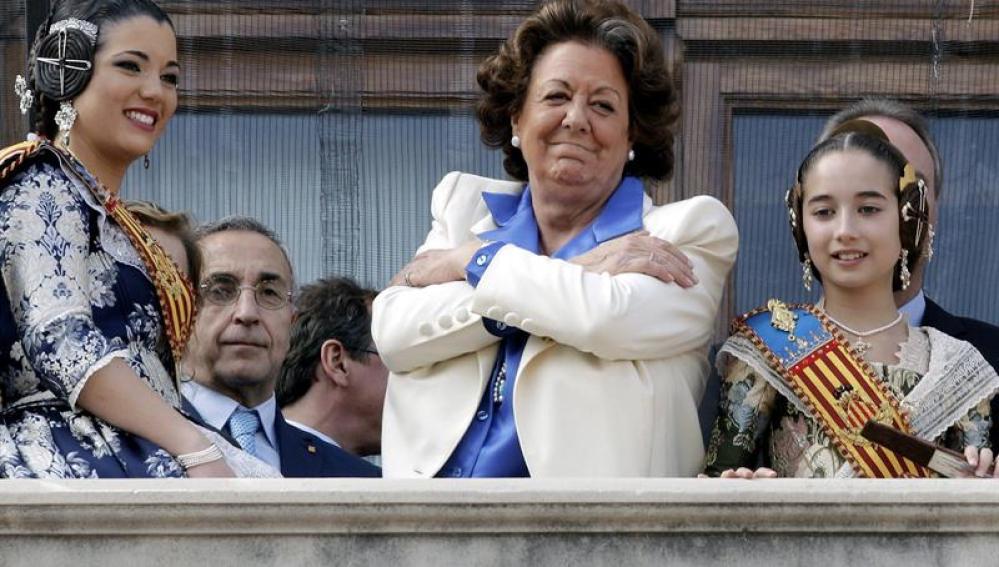 Rita Barberá tras pronunciar un discurso