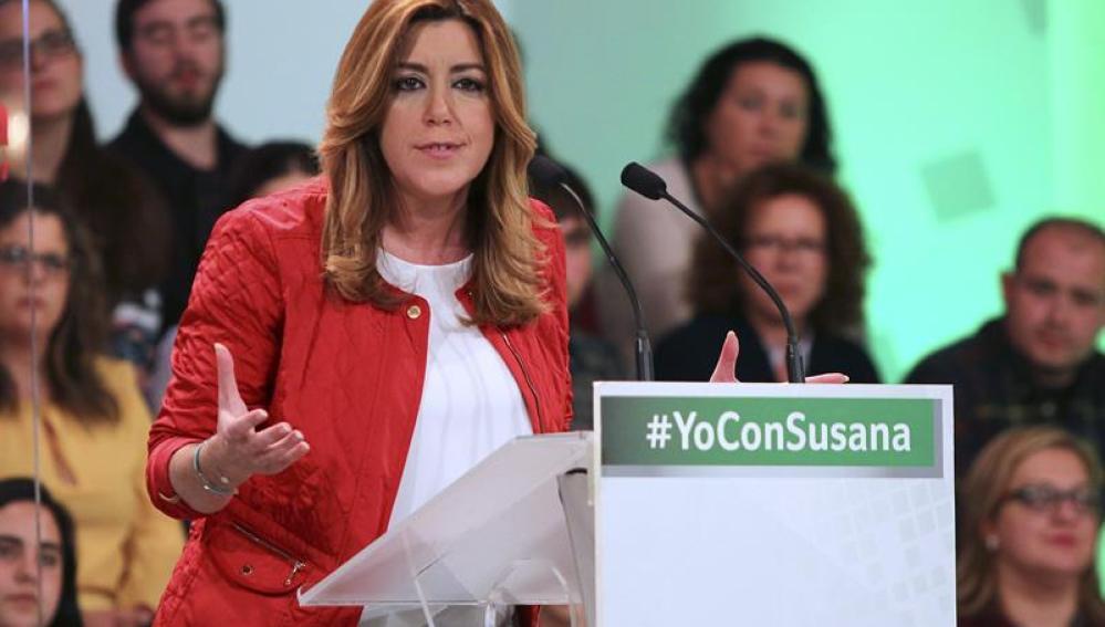 Susana Díaz en el arranque de campaña del 22M