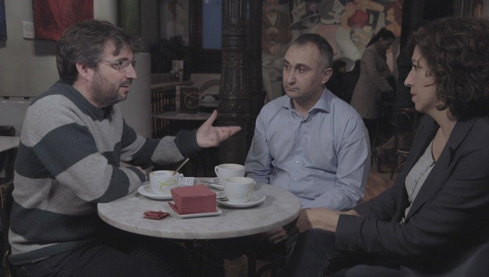 Jordi Évole, José Lóbez e Irene Lozano en 'Salvados'